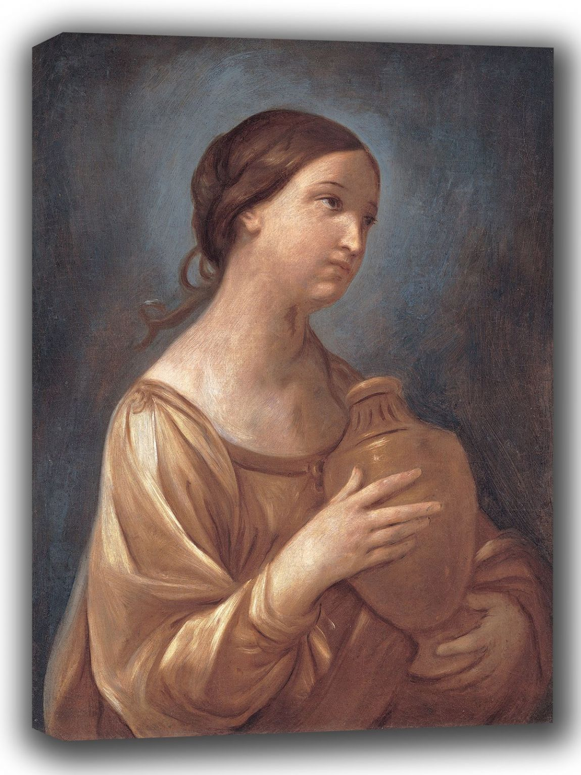 Reni, Guido: Magdalene with the Jar of Ointment. Fine Art Canvas. Sizes: A4/A3/A2/A1 (002108)